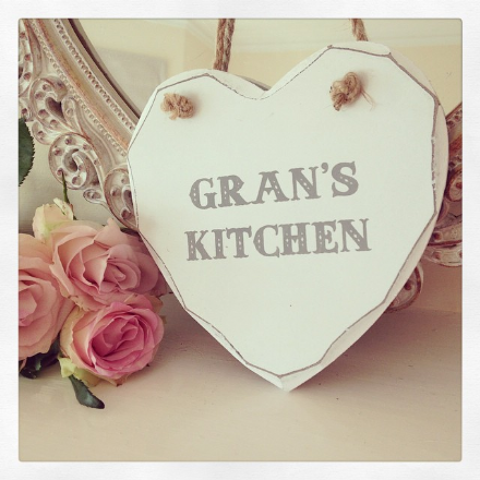 50% off Gran's Kitchen Hanging Wooden Heart